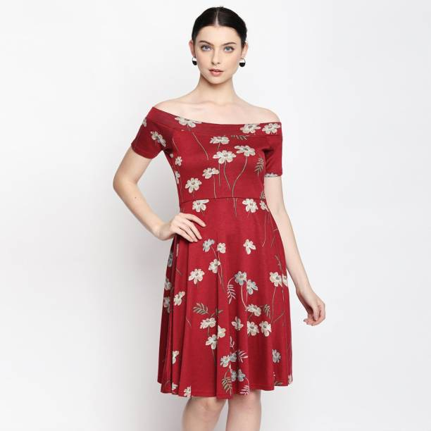 House of Anita Dongre -AND Women Skater Red Dress