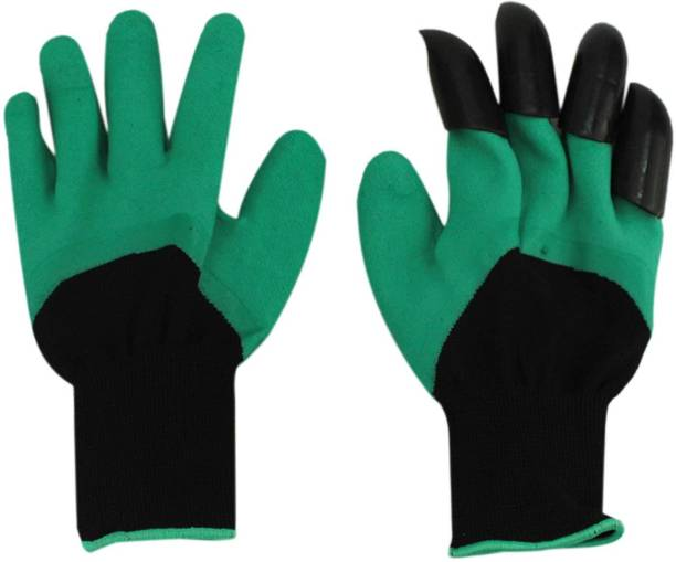 ZEVORA Garden Gloves with Claws for Digging & Planting- Unisex- One Size Fits All - 1 Pair Gardening Shoulder Glove