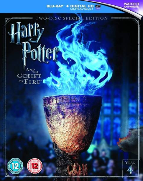 Harry Potter and The Goblet of Fire - Year 4 (Blu-ray + Digital Download + UV) (2-Disc Special Edition) (Slipcase Packaging + Region Free + Fully Packaged Import)