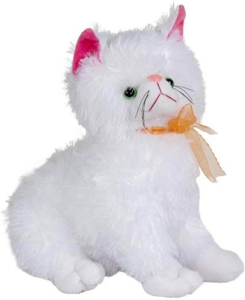 ARD ENTERPRISE Pussy Cat Stuffed Toy-white