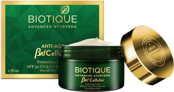 BIOTIQUE Bio BXL Cellular Protection Cream SPF 50 UVA/UVB Sunscreen - SPF 50