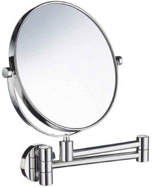 "JPS (tm) 8"" Makeup Mirror/ Shaving Mirror/ Bathroom Mirror with 10X Magnifying Mirror & Wall Bracket With Adjustable Frame"