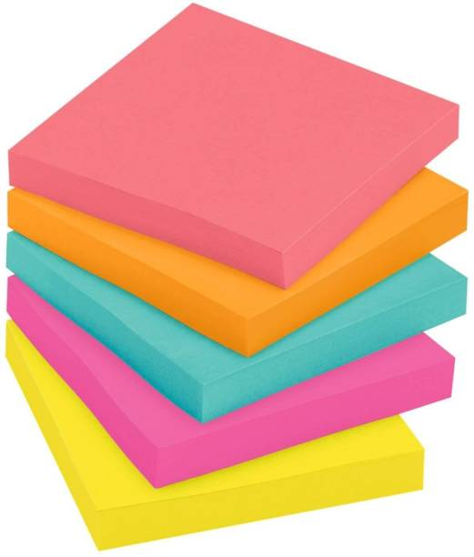 R H lifestyle NEON COLOURS 500 Sheets STICKY NOTES, 5 Colors