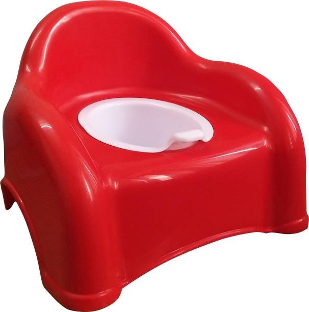 ATXP Baby Plastic Potty Chair  (Red) Potty Box