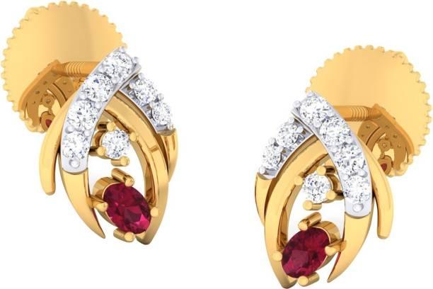 Jeweltale Pure Gold 18kt Diamond Jewellery Earring Jte5196 Yg18kvs Ij Yellow