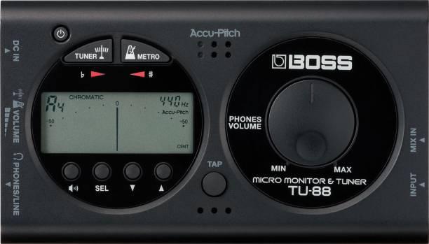 BOSS TU-88 Black Micro Monitor & Tuner Automatic Digital Tuner