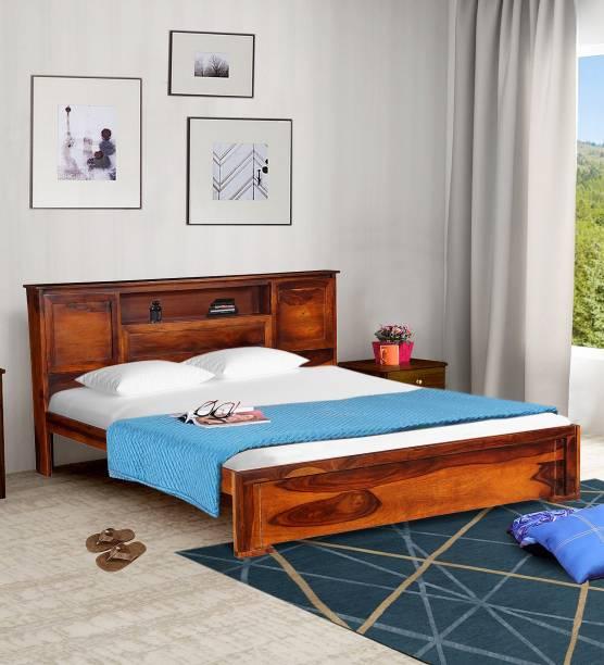 Balaji Wooden Sheesham Wood Solid Wood King Bed