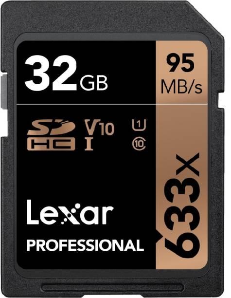 Lexar 633X 32 GB SDHC Class 10 95 Mbps  Memory Card