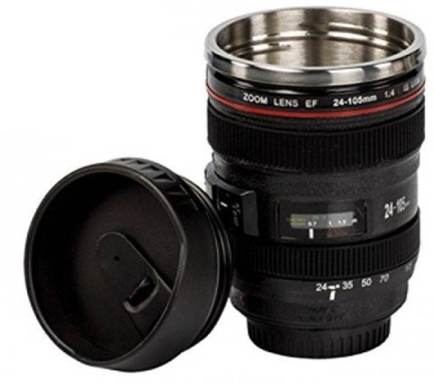 Smartcraft Camera Lens Shape Cup Coffee Tea Stainless Steel Thermos & Lens Lid Stainless Steel, Plastic Coffee Mug