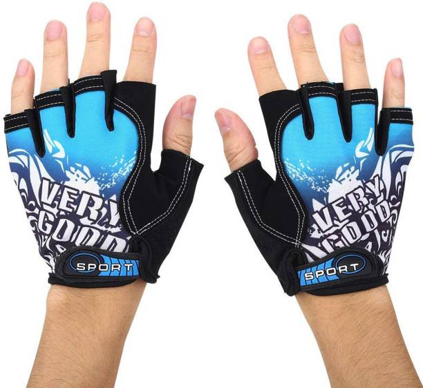 SHIVEXIM Riding printed Half Finger Gloves,Anti-Skid Silicone Gloves for Cycling Fitness Cycling Gloves