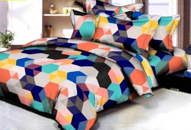 yatin fab 155 TC Cotton Double Printed Bedsheet