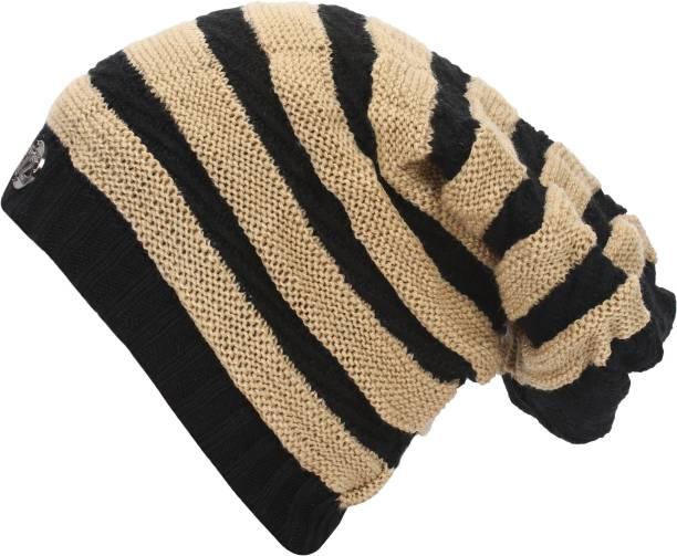 ceae19856a2 Friendskart Striped Fashion Winter Warm Beanie Caps Men Women Boy Girl Snow  Knitted Hats Skullies Cap