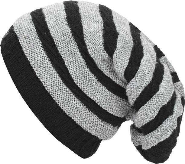 18ee7ff1b92 Friendskart Striped Fashion Winter Warm Beanie Caps Men Women Boy Girl Snow  Knitted Hats Skullies Cap