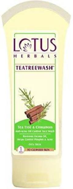 LOTUS HERBALS Tea Tree & Cinnamon Anti Acne Oil Control Face Wash