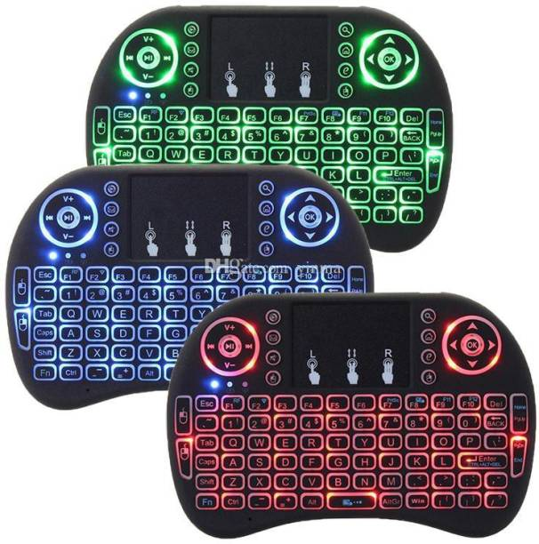 b3f496dfa78 DILURBAN 3 Colors Back-light 2.4GHZ Wireless Media Keyboard LED Light Air  Fly Mouse