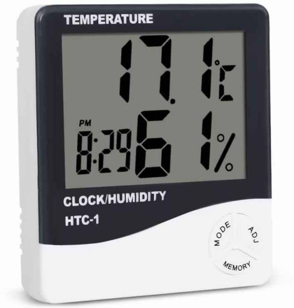DIVYE Indoor Room LCD Electronic Temperature Humidity Meter Digital Thermometer Hygrometer Weather Station Alarm Clock All-in-One Digital Moisture Measurer
