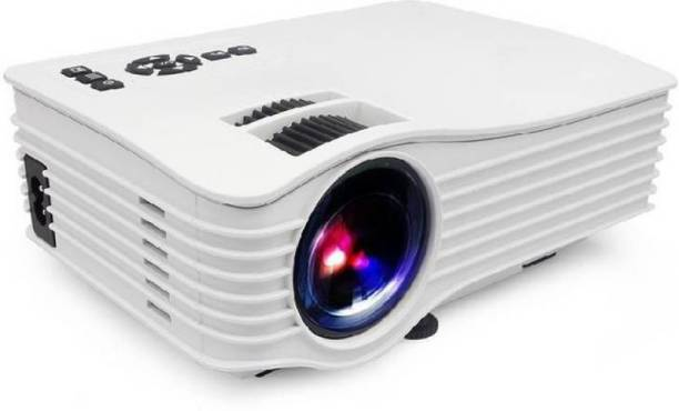 PLAY Projector Portable Mini LED Full Color 1920 x 1080P 1200 Lumens Home Theater HDMI USB Projector(White) 1200 lm LED Corded Portable Projector
