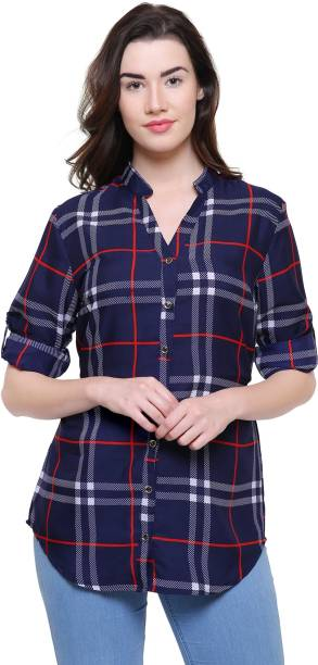 e26e4c8a160 Checkered Tops - Buy Checkered Tops Online at Best Prices In India ...