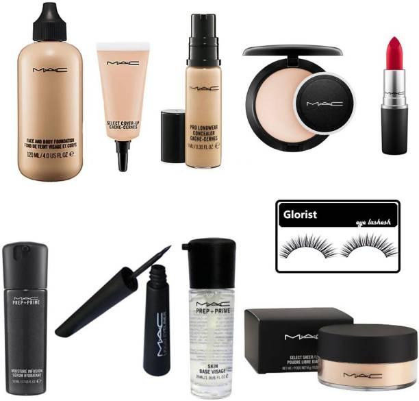glorist eyelashesh & Mac Professional Good Beauty Combo Makeup Kit