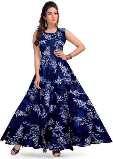 JWF Women's Layered Blue Dress