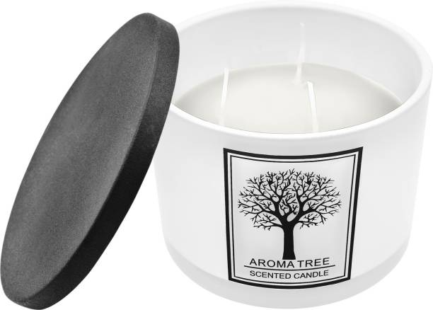 ARCHIES Scented Candle with a refreshing vanilla fragrance in a ceramic jar (11x11x8 ) 1 PC Candle