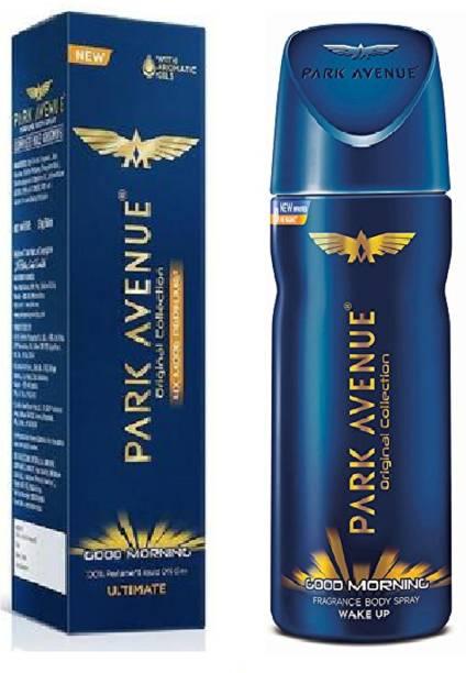 PARK AVENUE good morning ultimate & good morning combo set of 2 Deodorant Spray  -  For Men