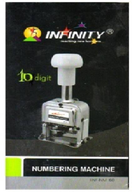 INFINITY 10 Digit Automatic Numbering machine with Spare Parts  Office Set
