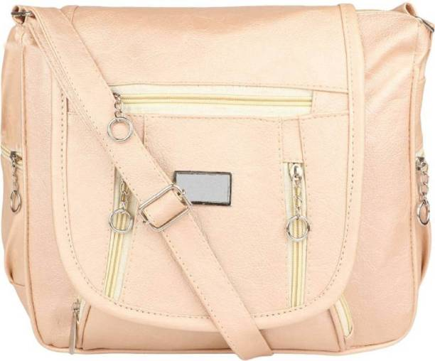 8283fb4b75 AL Amazing Women Casual Tan PU Sling Bag