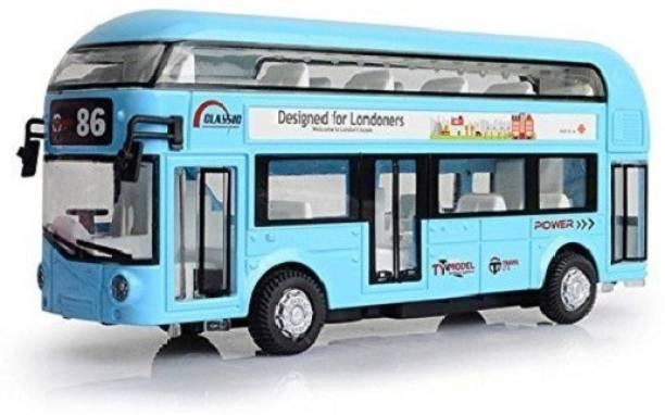 Bluwings Metal Body Double Decker Luxury Bus toy for Chidren(Min. Age 3yrs)