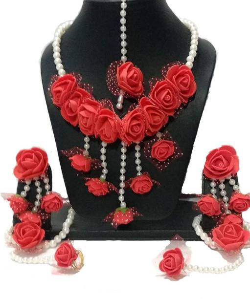 Bridal & Wedding Party Jewelry The Best Red Lct Cz Gold Tone Indian Bollywood Shaadi Bridal Wedding Necklace Set Jewelry