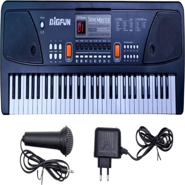 SSM 61 keys Bigfun Electronic Piano Keyboard with LED Display & Microphone
