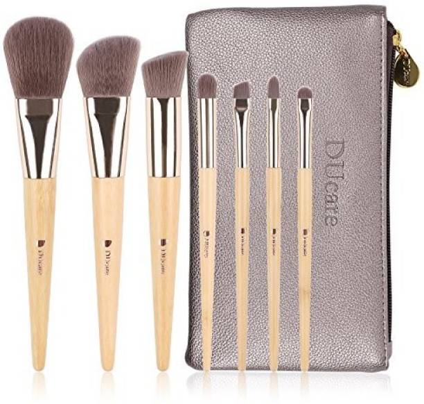 Ducare Makeup Brushes Set Organic Bamboo Cruelty Free Pack Of 7