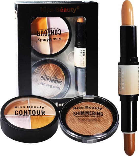 Kiss Beauty Face 3in1 Contour Kit 23001C Concealer