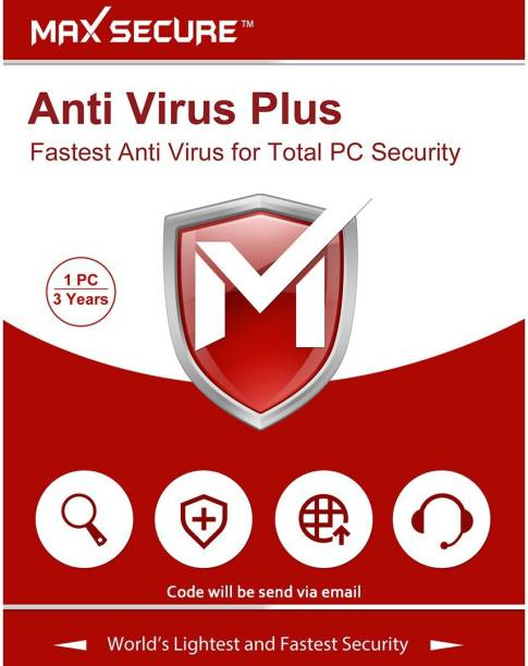 Max Secure 1 User 3 Years Anti-virus (Email Delivery - No CD)