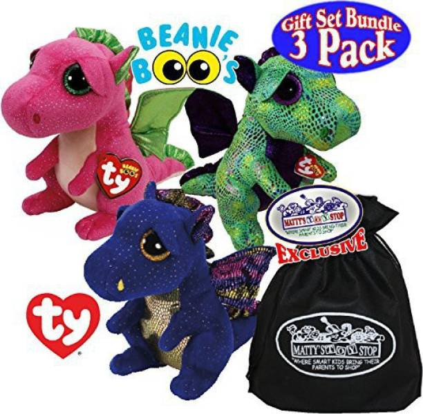 1b96792474c Ty Beanie Boos TY Beanie Boos Dragons Saffire (Blue Dragon)Cinder (Green  Dragon