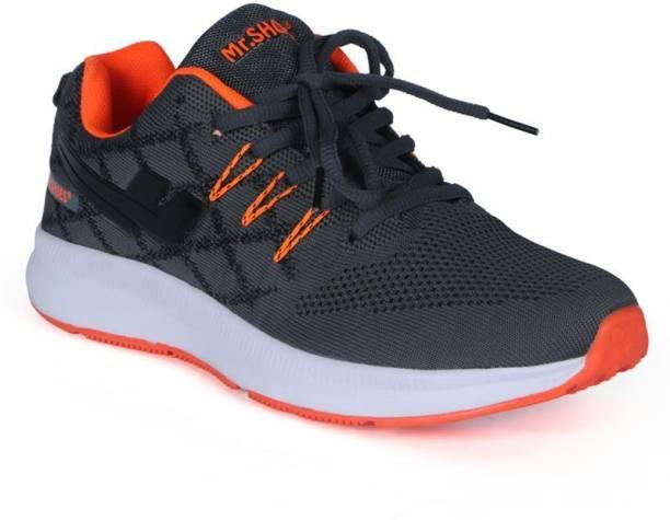 0fc37d5a1d5ee Mr.shoes 583-SPORT 4 LIGHTWEIGHT RUNNING SHOE grey orange Running Shoes For  Men