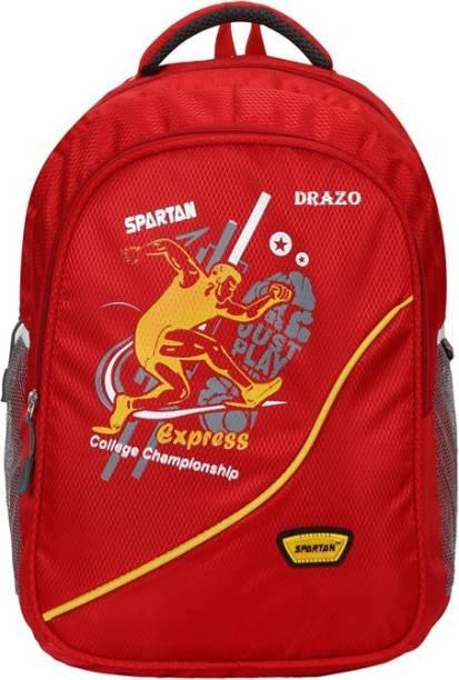 6458298196 DRAZO DRZ 1004 CHERRY RED Waterproof School Bag