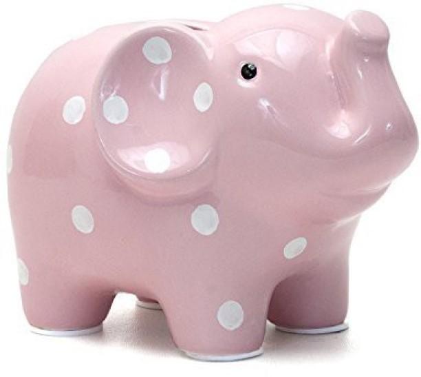 Amaonm Creative Simulation Resin Pig Coin Money Piggy Bank Bitrthday Gift Toy for Kids Children 10x6x4.3 B