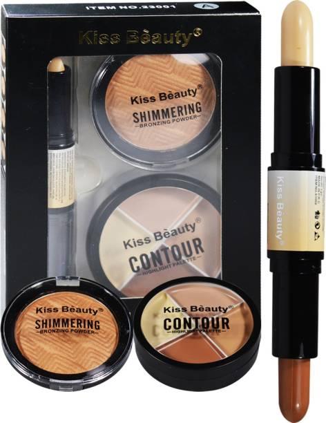 Kiss Beauty Face 3in1 Contour Kit 23001A Concealer