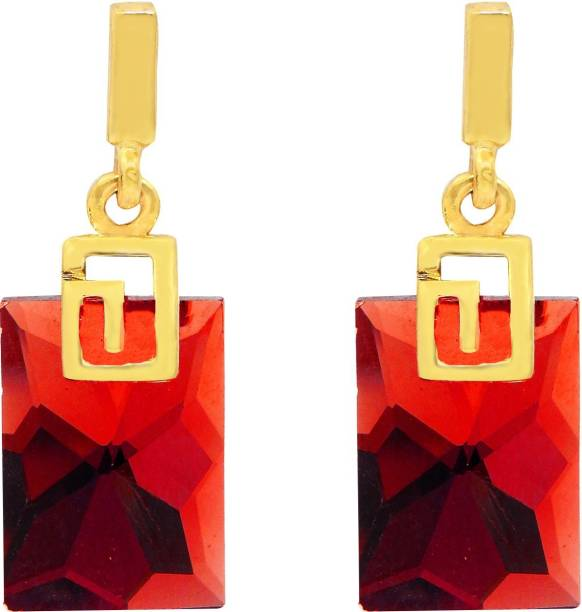 7aca4a231 FreshVibes Fresh Vibes Gold Plated Casual Wear Red Drop Earrings for Women  - Trendy Party Wear