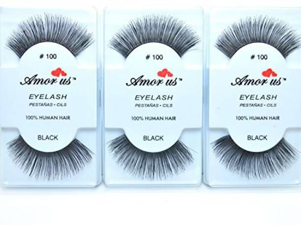 628a921d11a Amorus 3 Pairs 100 Human Hair False Eyelashes Compare Red Cherry Long Free  Earring