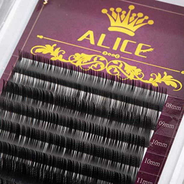 017dba141cc Alice Eyelash Extensions Individual Eyelashes Mixed Tray Black Volume Mink False  Lashes C Curl 0 12Mm