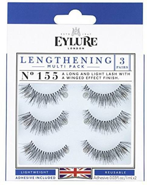 fedcb7880cb Eylure Lengthening False Eyelashes Multipack Style No 155 Reusable Adhesive  Included 3 Pair