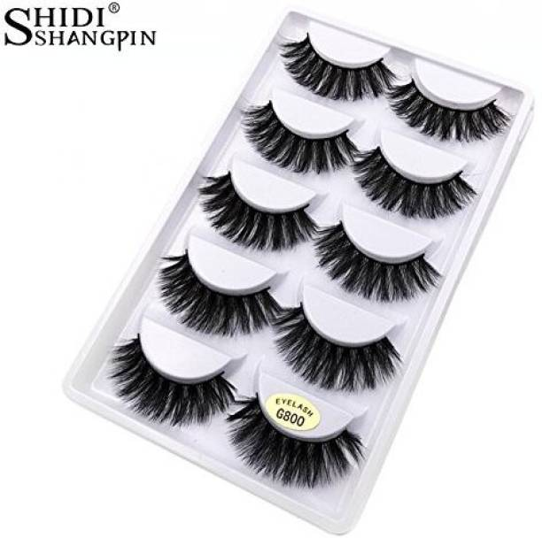 b6f3c849199 Topbeauty Shidishangpin 5 Pairs Eyelashes 3D Lashes Natural Black 1Cm 1 5Cm  Long Soft False Full