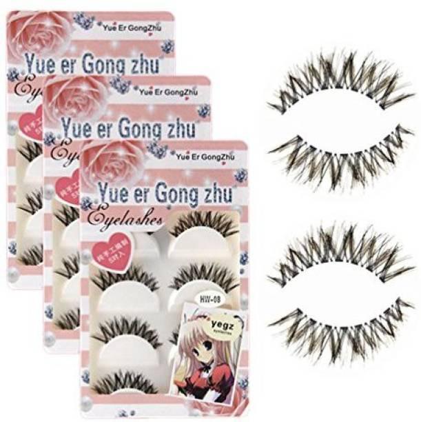 eeaa6318849 Tuantuan 3 Pack False Eyelashes Thick Crisscross Long For Makeup Cosmetic  15 Pairs
