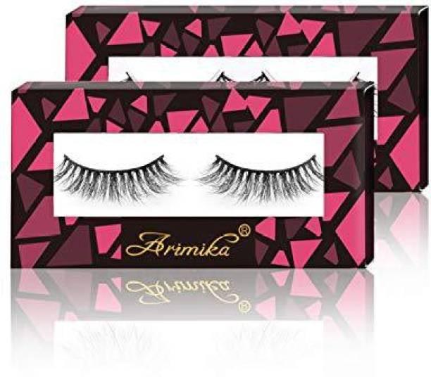 61b6d9d4791 Arimika Lash Handmade 3D Mink False Eyelashes 2 Pair Pack Reusable With  Sturdy Flexible Band Lightweight