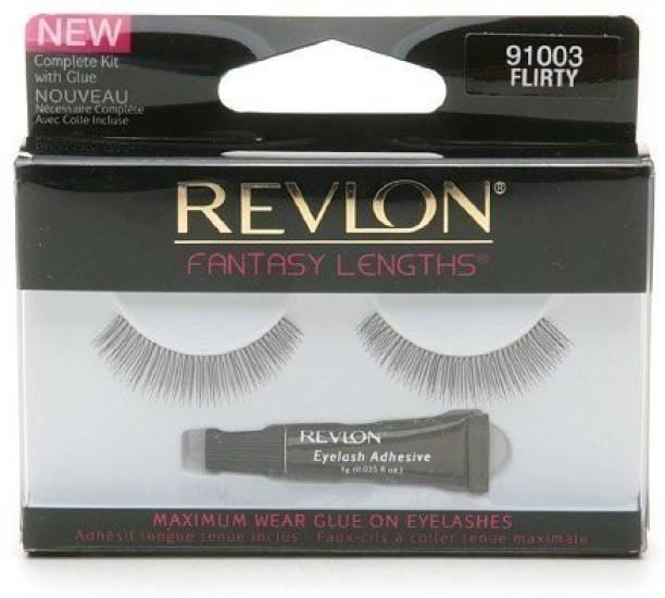 Revlon Fantasy Lengths Maximum Wear Glue On Eyelashes Flirty 1 Pr