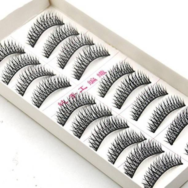 325997a4ab8 Paymenow 10 Pairs Thick Long Crisscross Natural Party False Eyelashes Fake  Eye Lashes Makeup
