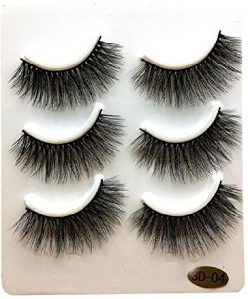 9486c726c9f Ddlbiz 3 Pairs Long Thick False Eyelashes Makeup Natural Artificial Black