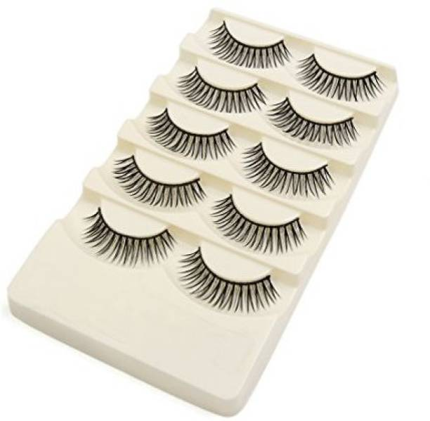 6a45ad25af0 Uxcell 5 Pairs False Eyelashes Extension Women Bigger Eyes Makeup Cosmetic  Tool 0 4 34 Length